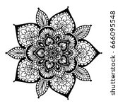 mandalas for coloring book.... | Shutterstock .eps vector #666095548