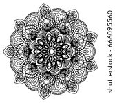 mandalas for coloring book.... | Shutterstock .eps vector #666095560