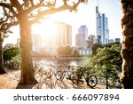 view on the financial district... | Shutterstock . vector #666097894