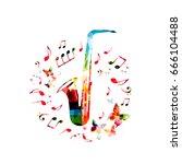 music instrument background....   Shutterstock .eps vector #666104488