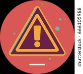 attention sign icon with long... | Shutterstock .eps vector #666105988