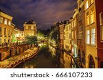 the most famous canals and... | Shutterstock . vector #666107233