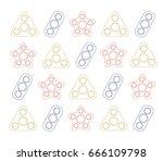 fidget spinner background.... | Shutterstock .eps vector #666109798