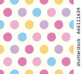 polka dot cool colorful pastel... | Shutterstock .eps vector #666111634