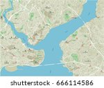 vector city map of istanbul... | Shutterstock .eps vector #666114586