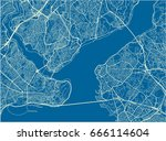 blue and white vector city map... | Shutterstock .eps vector #666114604