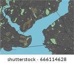 istanbul vector map with dark... | Shutterstock .eps vector #666114628