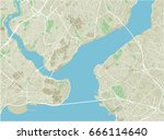 vector city map of istanbul... | Shutterstock .eps vector #666114640