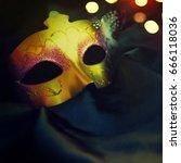 carnival mask | Shutterstock . vector #666118036