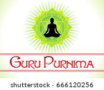 abstract artistic guru purnima... | Shutterstock .eps vector #666120256