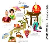 japan  sights  culture ... | Shutterstock .eps vector #666120538