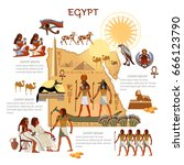 ancient egypt infographics.... | Shutterstock .eps vector #666123790