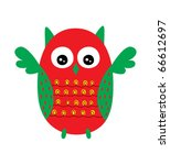 cute funny owl doodle | Shutterstock .eps vector #66612697