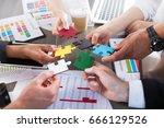 teamwork of partners. concept... | Shutterstock . vector #666129526