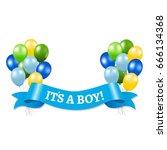 its a boy  | Shutterstock . vector #666134368