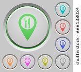 restaurant gps map location...   Shutterstock .eps vector #666138034