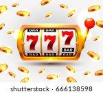 golden slots machine wins the... | Shutterstock .eps vector #666138598