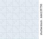 blank empty jigsaw texture.... | Shutterstock . vector #666139750