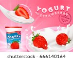 different strawberries  3d... | Shutterstock .eps vector #666140164