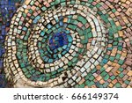 detail of beautiful old... | Shutterstock . vector #666149374