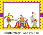 vector card template with cute... | Shutterstock .eps vector #666149740