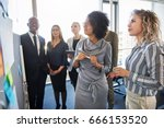 group of diverse work... | Shutterstock . vector #666153520