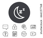sleep sign icon. moon with zzz... | Shutterstock .eps vector #666157768