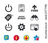 power icons. start engine...