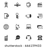 media vector icons for web and... | Shutterstock .eps vector #666159433