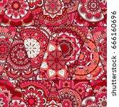 mandalas pattern. vintage... | Shutterstock .eps vector #666160696
