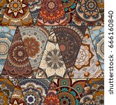mandalas pattern. vintage... | Shutterstock .eps vector #666160840