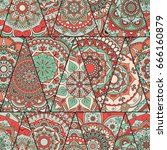 mandalas pattern. vintage... | Shutterstock .eps vector #666160879