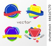 colorful abstract tag banner... | Shutterstock .eps vector #666167170
