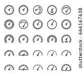 gauge icons set on white...   Shutterstock .eps vector #666167638