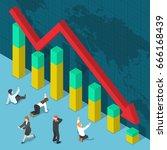 businessman shocked when... | Shutterstock .eps vector #666168439