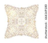 vector vintage decor  ornate...   Shutterstock .eps vector #666169180
