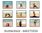 yoga on the beach thailand | Shutterstock . vector #666171016