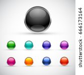 blank buttons template | Shutterstock .eps vector #666173164