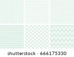 set of geometric line abstract... | Shutterstock .eps vector #666175330