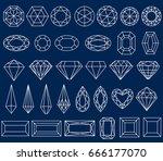 graphic figures drawing jewel...   Shutterstock .eps vector #666177070