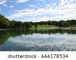 beaver lake    mount royal park ... | Shutterstock . vector #666178534