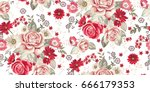 seamless pattern with pale... | Shutterstock .eps vector #666179353