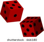 3d vector dice for use in... | Shutterstock .eps vector #666180