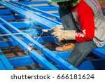 welders | Shutterstock . vector #666181624