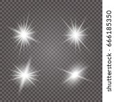 white glowing light burst... | Shutterstock .eps vector #666185350