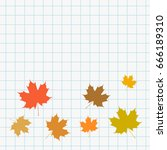 school web banner with maple... | Shutterstock .eps vector #666189310