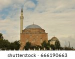 view of muslim mosque exterior... | Shutterstock . vector #666190663