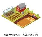 isometric big set infographics... | Shutterstock .eps vector #666195244