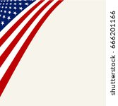 american flag icon  vector... | Shutterstock .eps vector #666201166