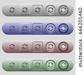 refresh arrows icons on rounded ... | Shutterstock .eps vector #666201460